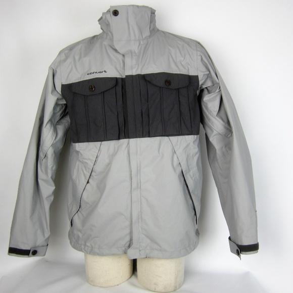 Columbia Convert Snowboard Ski Jacket Mens M Gray